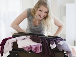 prepare suitcase