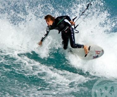 Kyte surfing Lacanau