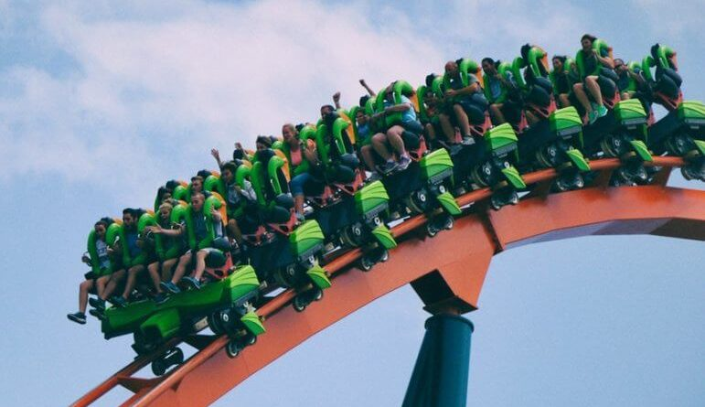 enjoy roller coaster