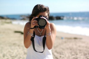 take photos on the beach