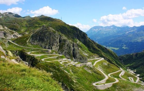 Great scenic drives, the Gotthard Pass in Switzerland
