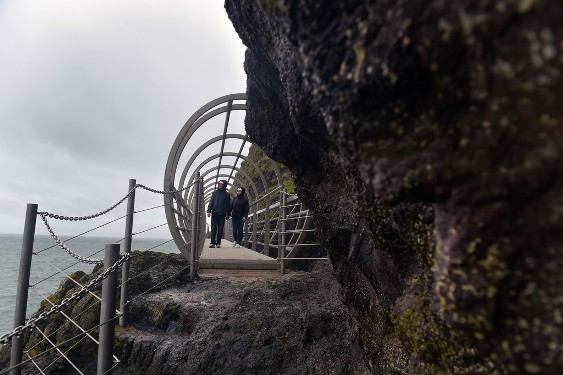 Hiking in Ireland: The Gobbins cliff path