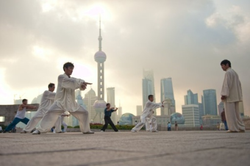 doing Tai Chi in Shanghai