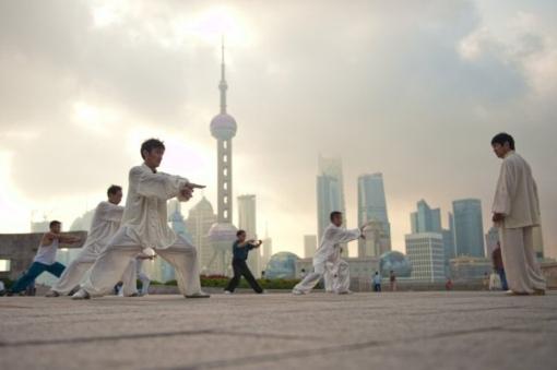 doing Tai Chi in Shanghai