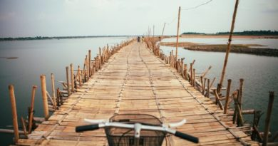 Koh Paen bamboo bridge