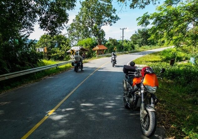 riding motorcycle in thailand